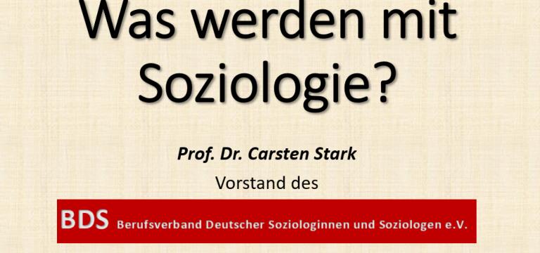 Bild was werden mit Soziologie Carsten Stark